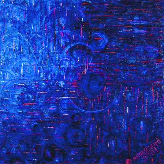 Painting by Heinz Schumi, NO. 11 BLUE UNIVERSE
